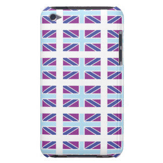 Union Jack Flag in Purple iPod Touch Case-Mate