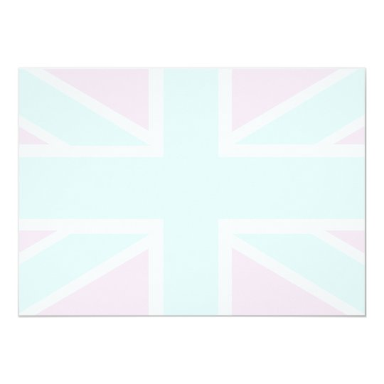 Union Jack Flag in shades of pink/blue Invitation