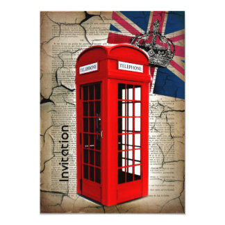 union jack flag jubilee crown red telephone booth card