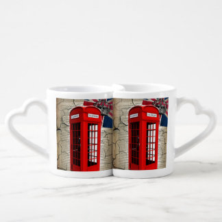 union jack flag jubilee crown red telephone booth coffee mug set