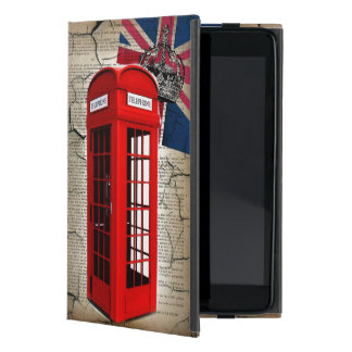 union jack flag jubilee crown red telephone booth cover for iPad mini