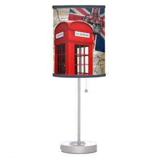 union jack flag jubilee crown red telephone booth desk lamp