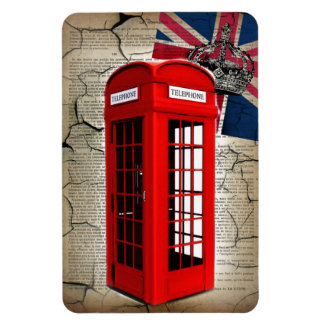 union jack flag jubilee crown red telephone booth magnet