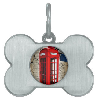 union jack flag jubilee crown red telephone booth pet ID tag