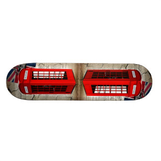 union jack flag jubilee crown red telephone booth skateboard deck