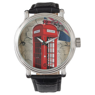 union jack flag jubilee crown red telephone booth watch