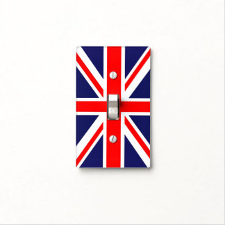 Union Jack flag Light Switch Plates