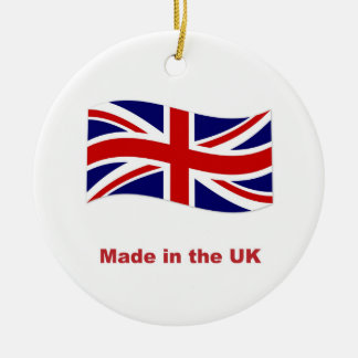 Union jack flag made in the uk template ornament