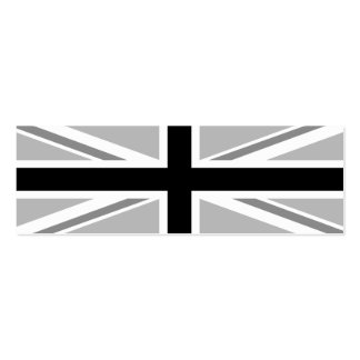 Union Jack/Flag Monochrome Business Card Templates