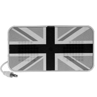 Union Jack/Flag Monochrome Travelling Speakers