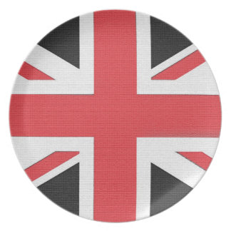 Union Jack flag of Britain Plate