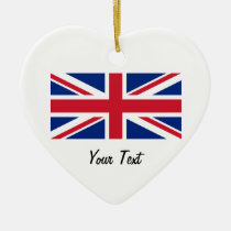 Union Jack Flag of Great Britain Hanging Ornament at Zazzle