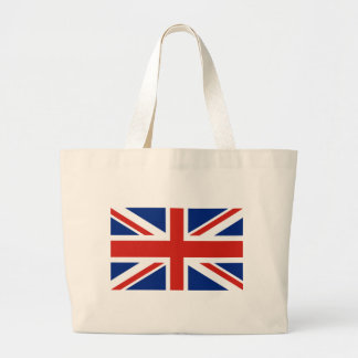 Union Jack - Flag of Great Britain Large Tote Bag