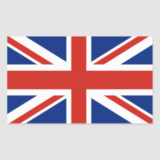 Union Jack - Flag of Great Britain Rectangular Sticker