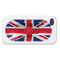 Union Jack Flag Of Great Britain Speaker iPhone 4 iPhone 4 Cases  at Zazzle