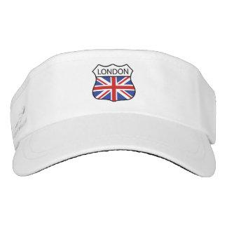 Union Jack flag of London, UK. Visor