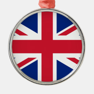 Union Jack flag of the UK - Authentic version Metal Ornament