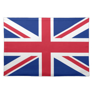 Union Jack flag of the UK - Authentic version Place Mats