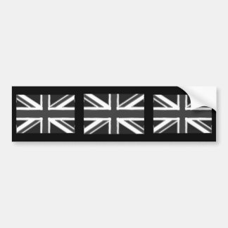Union Jack flag of the UK - Chrome Bumper Stickers