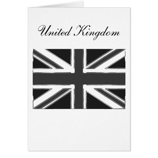 Union Jack flag of the UK - Chrome Card