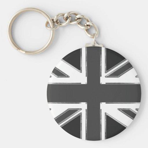 Union Jack flag of the UK - Chrome Key Chain