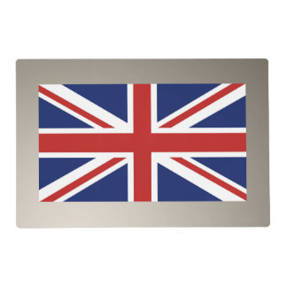 Union Jack Flag of the UK. Placemat