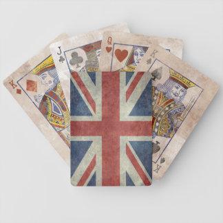 Union Jack flag of the UK - Vintage retro Bicycle Playing Cards