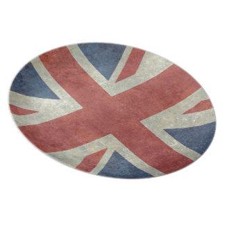 Union Jack flag of the UK - Vintage retro Plate