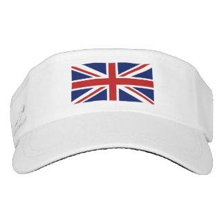 Union Jack flag of the UK. Visor
