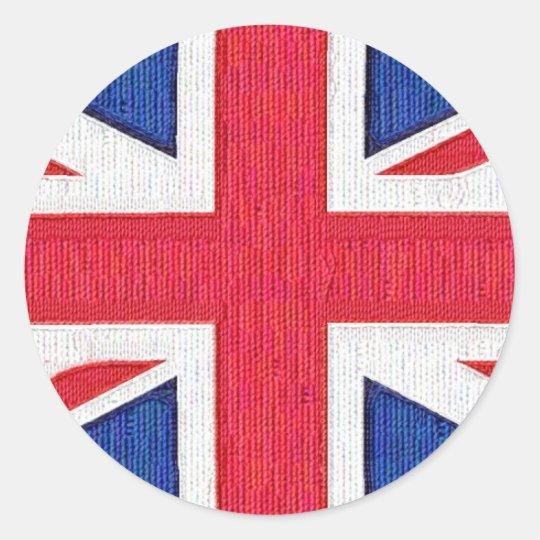 Union Jack - Flag of the United Kingdom Classic Round Sticker