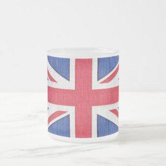 Union Jack - Flag of the United Kingdom Frosted Glass Coffee Mug