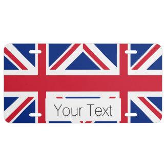 Union Jack - Flag of the United Kingdom License Plate