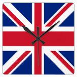 Union Jack - Flag of the United Kingdom Square Wall Clock