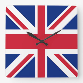 Union Jack - Flag of the United Kingdom Square Wall Clock