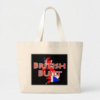 Union Jack Flag on Map Of Britain - British Built Large Tote Bag