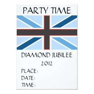 Union Jack Flag Party Time Invitation