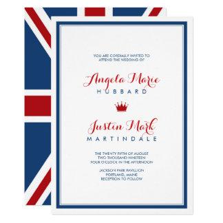 union jack flag patriotic wedding 2 card - Patriotic Wedding Invitations