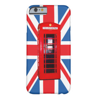 Union Jack/Flag & Phone Box Design Barely There iPhone 6 Case