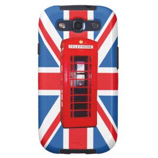 Union Jack/Flag & Phone Box Design Samsung Galaxy SIII Case