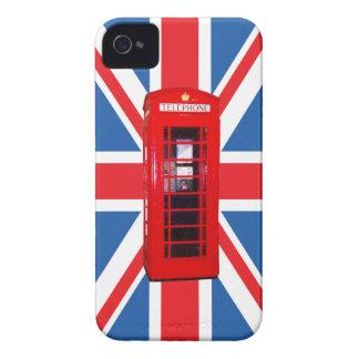 Union Jack/Flag & Phone Box Design iPhone 4 Case-Mate Cases