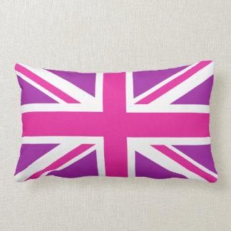 Union Jack Flag Pink, Purple & White Pillows