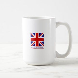Union Jack Flag Plus Your Text Coffee Mug
