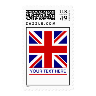 Union Jack Flag Plus Your Text Postage Stamps