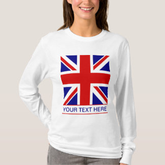 Union Jack Flag Plus Your Text T-Shirt