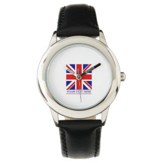 Union Jack Flag Plus Your Text Watches