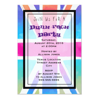 Union Jack Flag Punk Rock Party Invitation