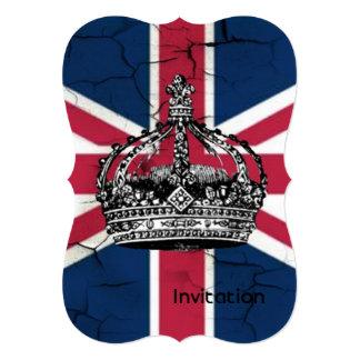 Union Jack Flag Queen of England Diamond Jubilee Card
