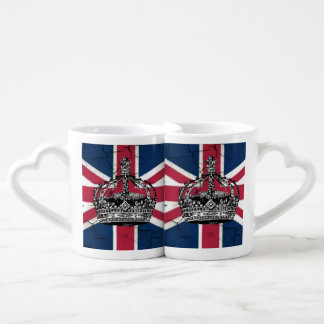 Union Jack Flag Queen of England Diamond Jubilee Coffee Mug Set