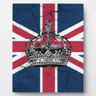 Union Jack Flag Queen of England Diamond Jubilee Plaque