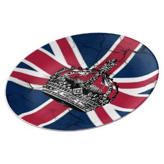 Union Jack Flag Queen of England Diamond Jubilee Plate